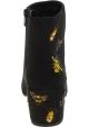 Steve Madden Bottines à talon brodées à la mode pour femme effet suède noir