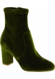 Steve Madden Bottines à talons hauts pour femme zip lateral en velours vert