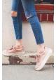 Steve Madden Chaussures Baskets basses à lacets pour femmes en satin rose