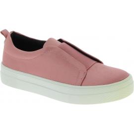 Steve Madden Chaussures slip-on platform sans lacets pour femme satin rose
