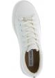 Steve Madden Baskets basses à lacets femme plateforme en faux cuir blanc