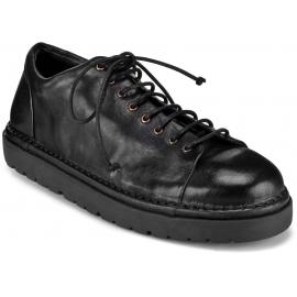 Marsèll Chaussures à lacets femme en cuir de veau noir fabriqués en Italie