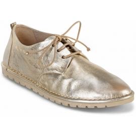 Marsèll Chaussures à lacets à bout rond pour femme en cuir laminé platine
