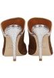 Paris Texas Chaussures mules pointues à talons aiguilles en daim marron