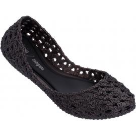 Melissa Chaussures ballerines pour dames à la mode en caoutchouc tissé noir
