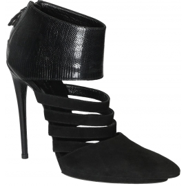 Balenciaga Bootines femme en daim noir à talon hautes