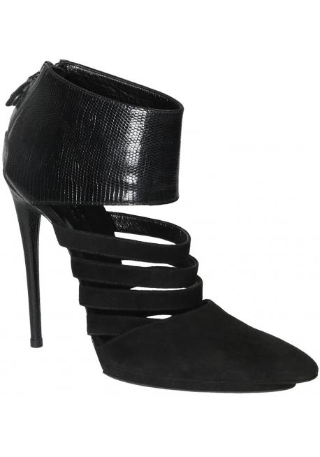 Bootines à talon hautes Balenciaga en daim noir