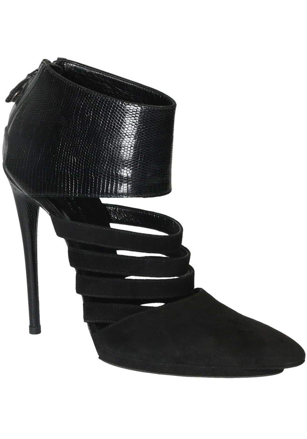 la meilleure attitude 1e634 0ebad Balenciaga Bootines femme en daim noir à talon hautes ...