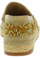 Dolce&Gabbana Espadrilles homme en cuir caïman beige et tissu avec perles