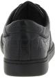Dolce&Gabbana Baskets mode homme en cuir de caïman noir imprimé crocodile