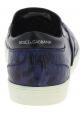 Dolce&Gabbana Baskets à enfiler homme cuir de caïman bleu imprimé crocodile