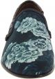 Dolce&Gabbana Mocassins pour homme en cuir bleu azur imprimé crocodile