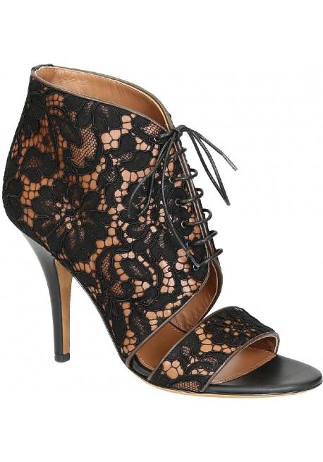 Sandales à talons hauts Givenchy en dantelle noir