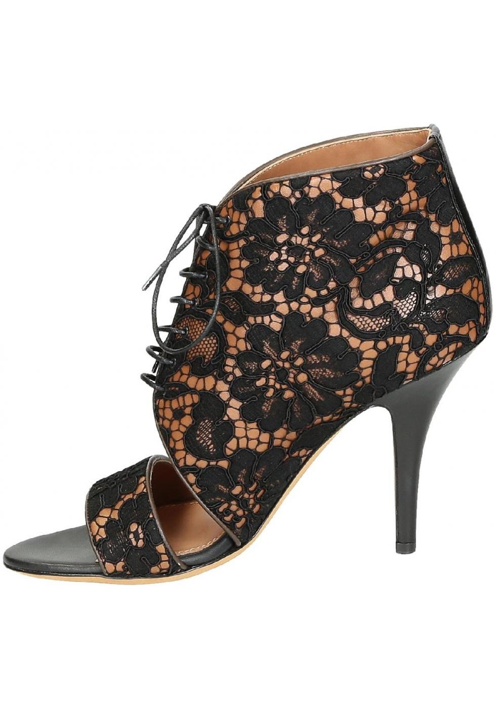 Sandales Talons À Boutique Givenchy Dantelle Hauts En Noir