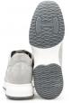 Hogan Baskets de mode à lacets pour femmes en cuir suédé gris clair avec strass