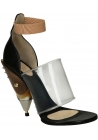 Sandales à talons en bois Givenchy en Cuir veau noir