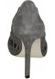 Escarpins à bout ouvert Giorgio Armani en daim gris