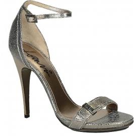 Sandales à talons hauts Lanvin en Cuir veau métal
