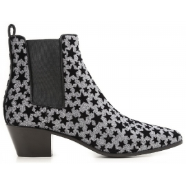 Saint Laurent bottines femme paillettes anthracite