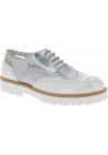 Hogan Chaussures à lacets de mode pour femmes en cuir verni blanc argenté