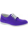 Hogan Baskets basses de mode pour femme à bout arrondi en toile violette