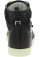 Hogan Baskets montantes de mode pour femmes en cuir et tissu blanc noir