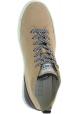 Hogan Baskets montantes de mode à lacets pour femmes en cuir suédé beige