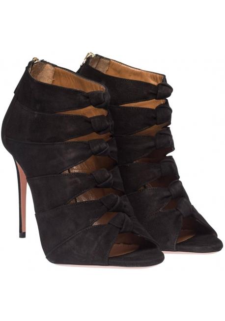Sandales à talons hauts Aquazzura en peau daim noir
