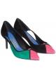 Chaussures à talon Ferragamo en peau multicolore