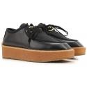 Chaussures à lacets compensée Stella McCartney noir