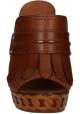 Sabot à plateforme Casadei en cuir Marron claire