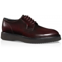 Chaussures à lacets Hogan homme en cuir bordeaux