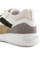 Hogan Baskets pour homme en cuir et tissu blanc avec lacets et fermeture velcro