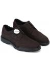 Hogan Chaussures à lacets pour hommes à bout arrondi en cuir nubuck marron