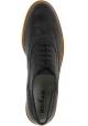 Hogan Chaussures brogues pour femmes en cuir noir à semelle blanche