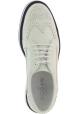 Hogan Chaussures richelieu à lacets pour femmes à talon compensé et bout arrondi en cuir blanc