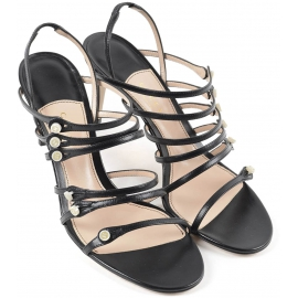 Sandales à talons hauts Gucci femme en cuir noir