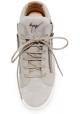 Basket montantes Zanotti femme en cuir gris à lacets