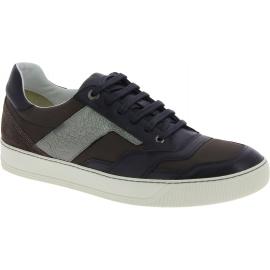 Sneakers Lanvin homme à lacets en cuir noir