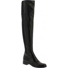 Bottes hautes femme Gucci en cuir nappa noir