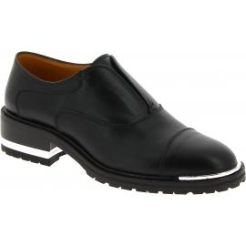Barbara Bui Chaussures de mode sans lacets femmes talon confortable cuir noir