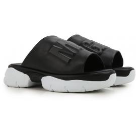 Nu-pieds MSGM pour femme en cuir noir