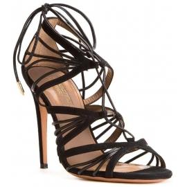 Sandales à talons hauts Aquazzura en peau Retournée noir