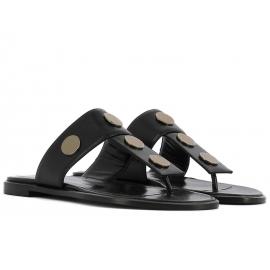 Nu-pieds Pierre Hardy pour femme en cuir noir
