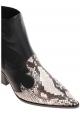 Casadei femme bottes western en cuir noir avec empiècements Ayers