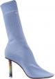 Vetements Bottes chaussettes pour femmes en coton bleu clair à talon haut briquet