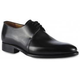 Carlos Santos Chaussures derbies habillées à lacets pour hommes en cuir de veau noir