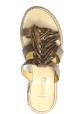 Sartore Sandales mules plateforme pour femme à franges en cuir taupe