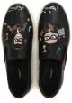 Slips-on Dolce&Gabbana pour homme en cuir noir