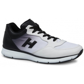 Sneakers Hogan baskets homme en cuir blanc